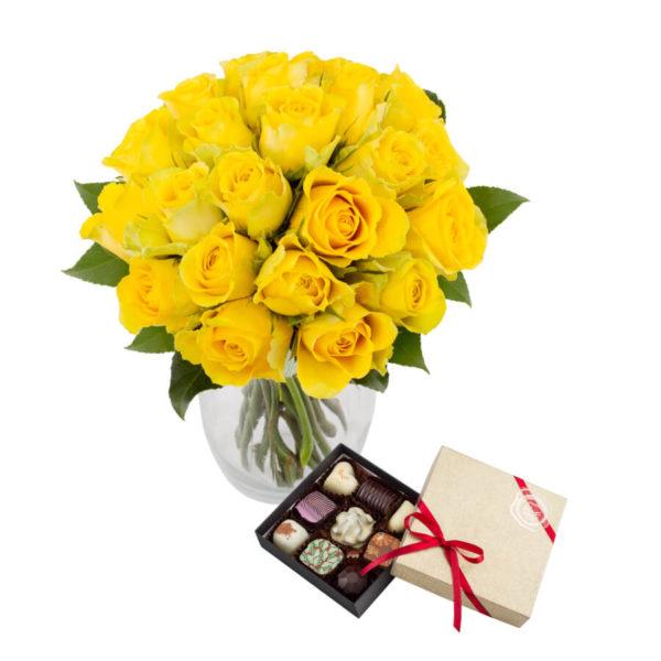 kollane roosikimp kommikarbiga